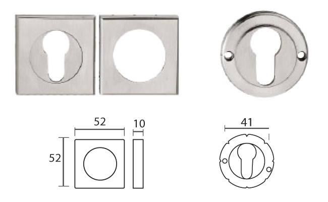 esctsq01ss threaded square escutcheon