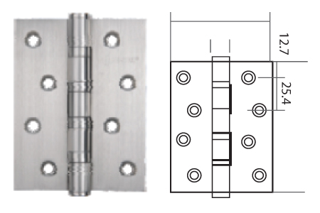 Keyline Stainless Steel Ball Bearing Hinge SS4BB
