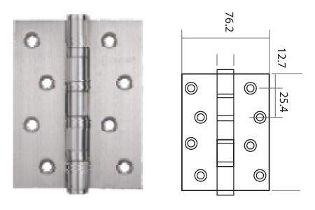 Keyline Stainless Steel Ball Bearing Hinge SSBB