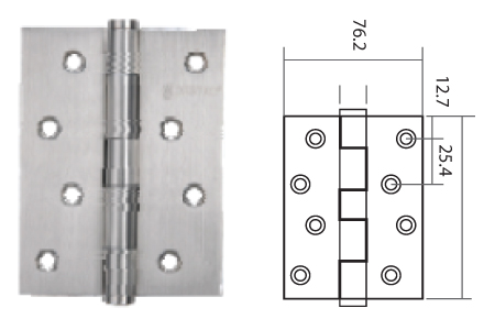 Keyline Stainless Steel Butt Hinge