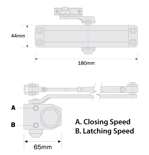 keyline door closer dc 1300 series tech data