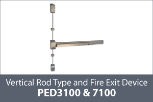 keyline panic exit device vertical rod type thumb