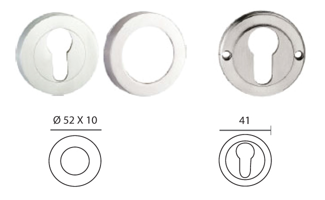 esct01ss threaded escutcheon