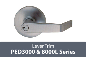 keyline panic exit device lever trim thumb