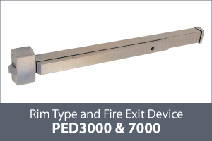 keyline panic exit device rim type thumb